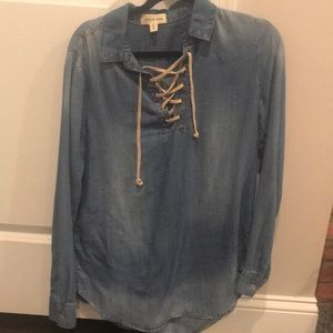 Cloth and stone chambray shirt medium M